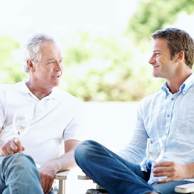 Gespräch zwischen Männern